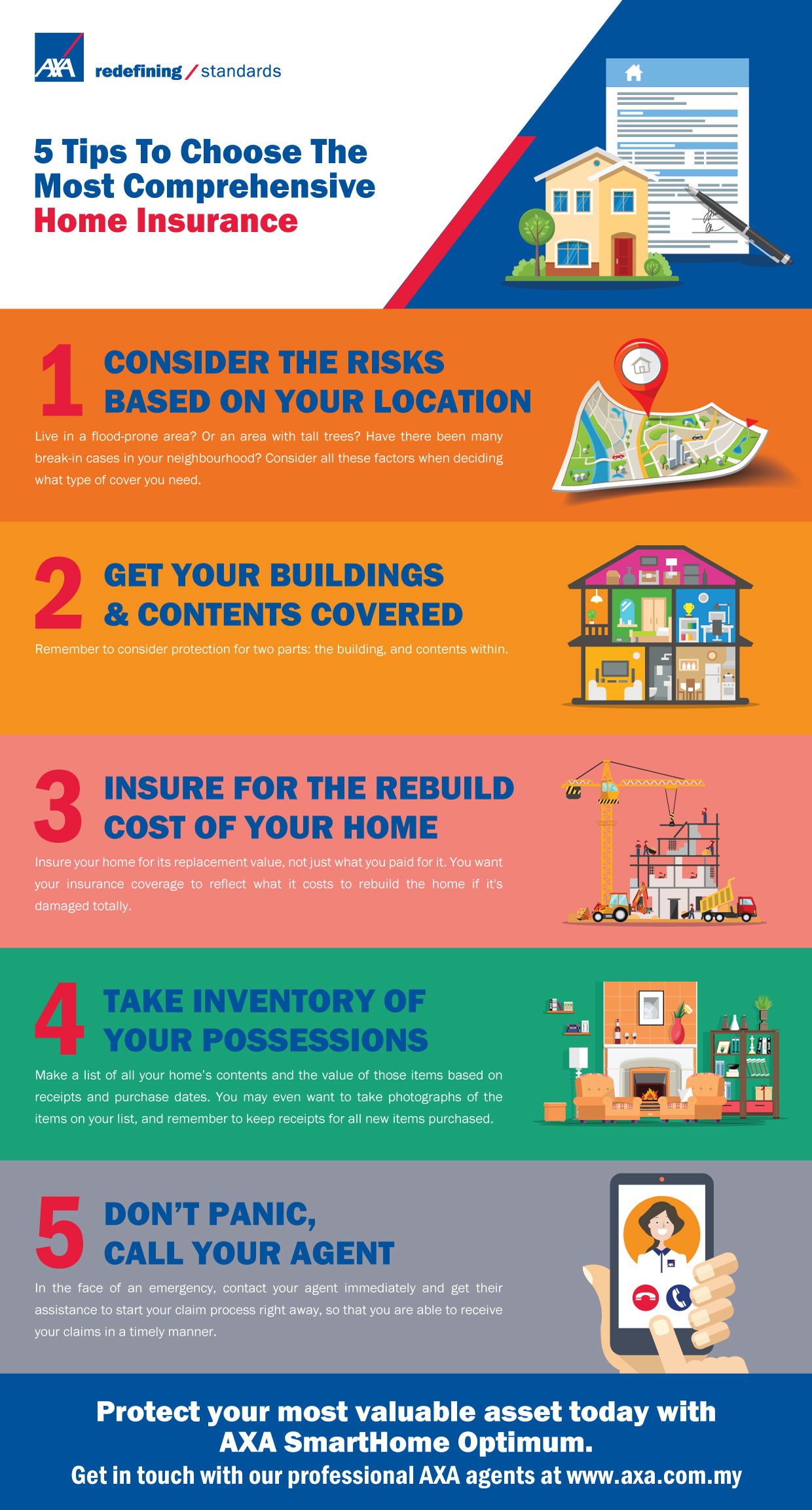 5 tips to choose the most comprehensive home insurance