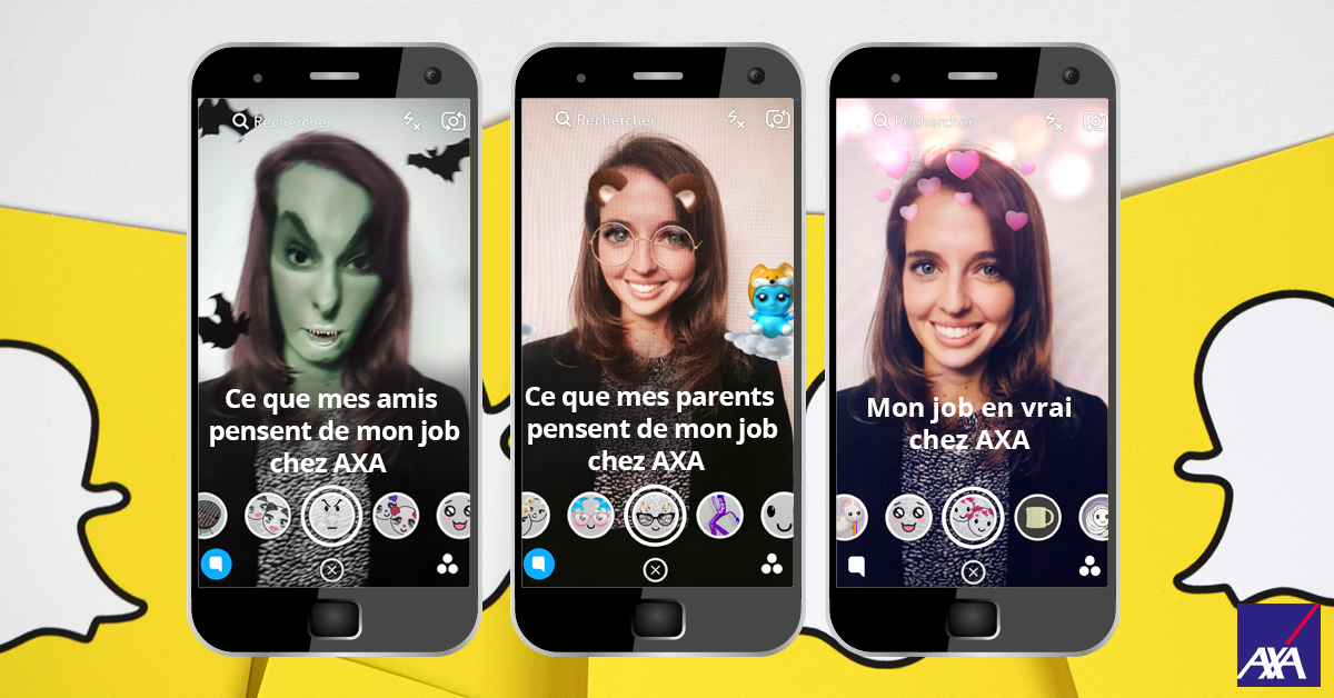 AXA se dévoile sur Snapchat : Opération #NoCliché