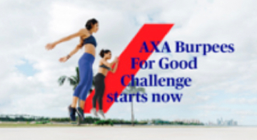 Working Towards a Healthier Singapore: AXA Burpees For Good challenge